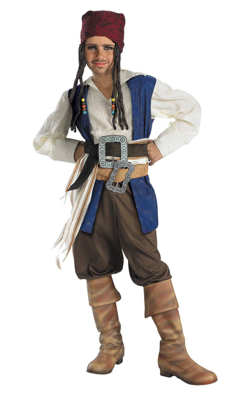 Disguise Boys' Captain Jack Sparrow Classic Costume - Costume Arena