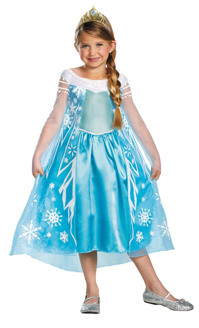 Disguise Girls' Frozen Elsa Movie Theme Party Costume - Costume Arena