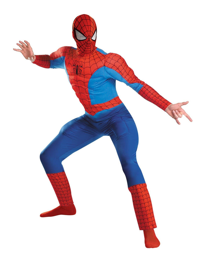 Disguise Men's Spiderman Theme Deluxe Muscle Costume - Costume Arena