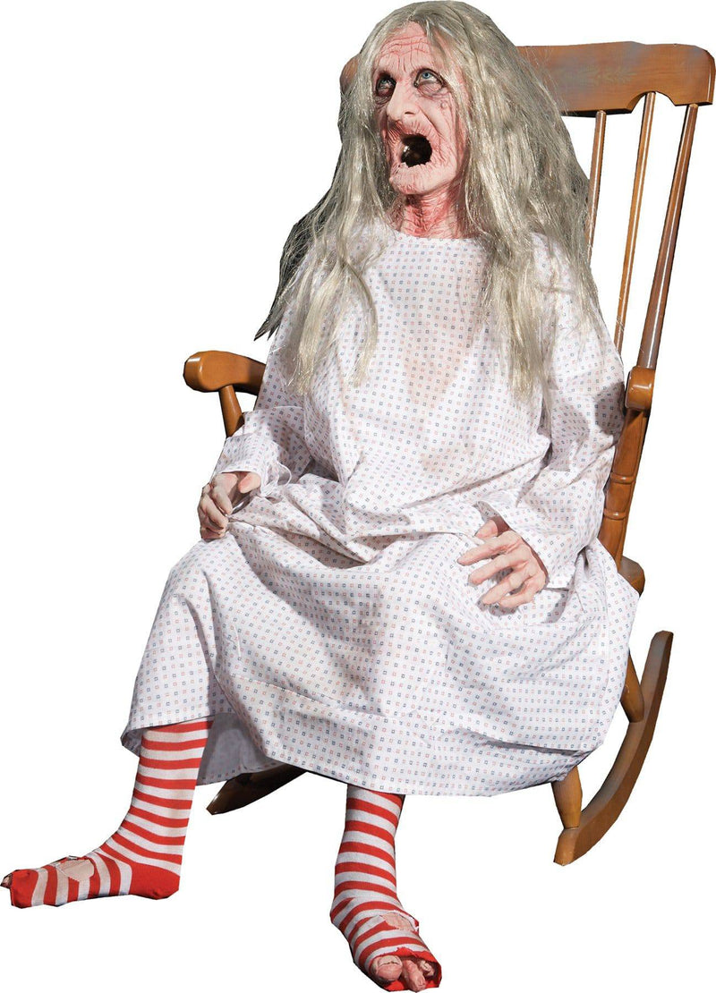 Distortions Unlimited Rocking Granny Animated Horror Decoration - Costume Arena