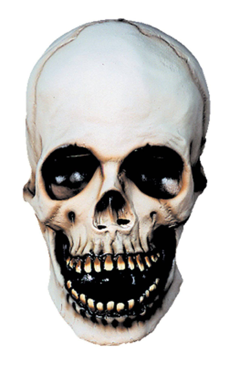 Distortions Unlimited Skull Scary Theme Party Halloween Latex Mask - Costume Arena