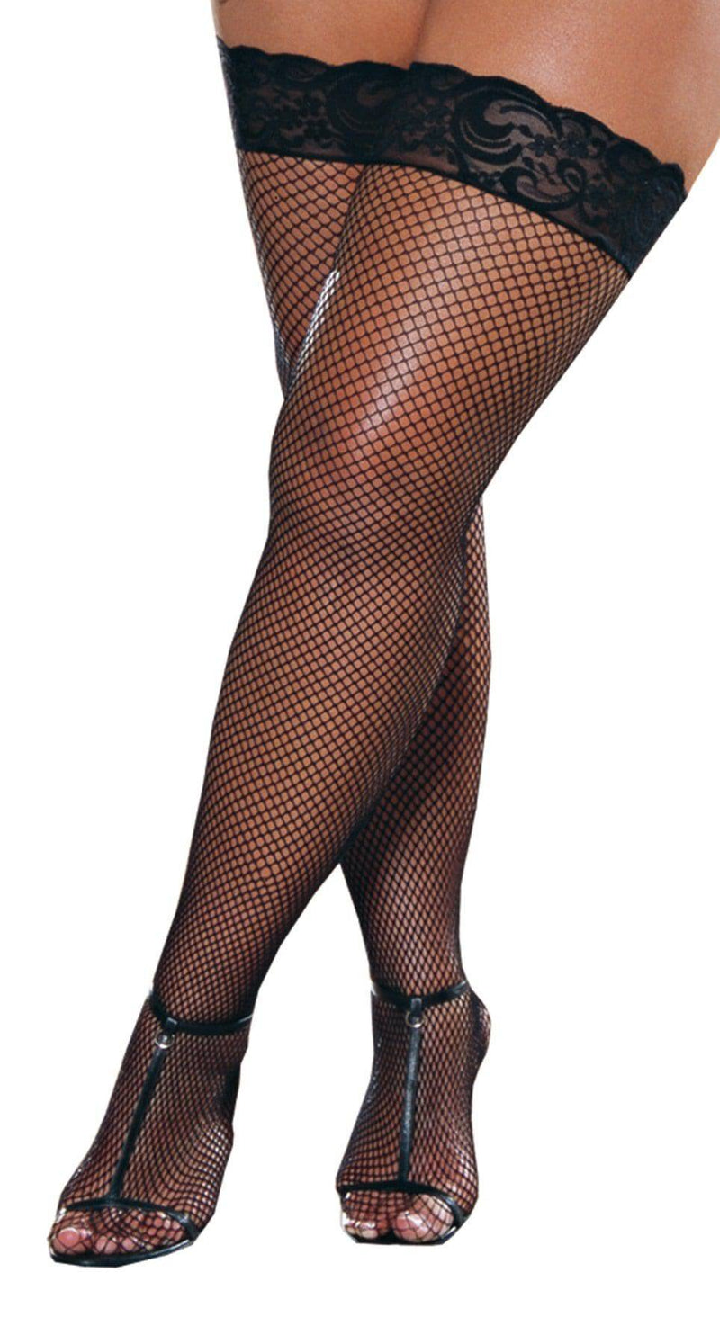 Dreamgirl Fishnet Thigh High w/ Lace Top Accessory - Costume Arena