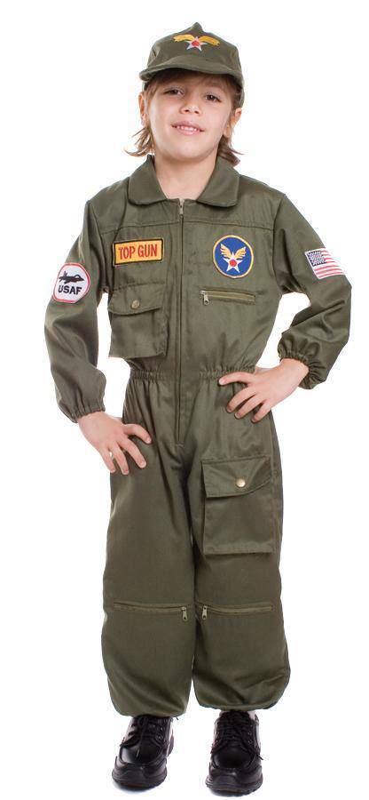 Dress Up America Air Force Pilot Halloween Child Costume - Costume Arena