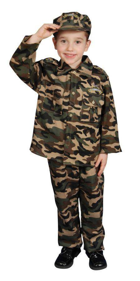 Dress Up America Boys' Army Officer Theme Fancy Dress Costume - Costume Arena