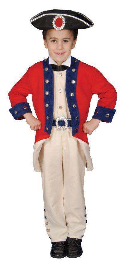 Dress Up America Boys' Colonial Soldier Theme Child Costume - Costume Arena