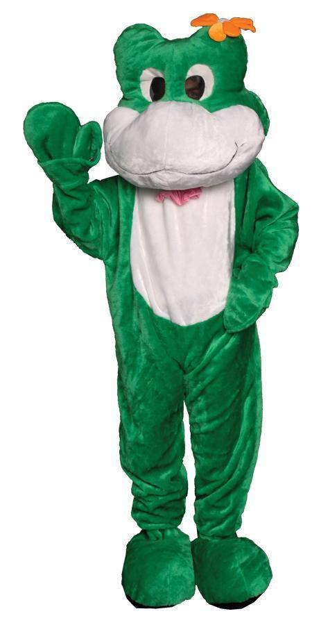 Dress Up America Frog Mascot Funny Halloween Adult Costume - Costume Arena