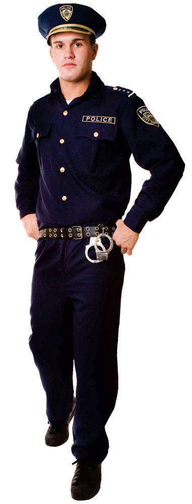 Dress Up America Men's Police Officer Halloween Adult Costume - Costume Arena