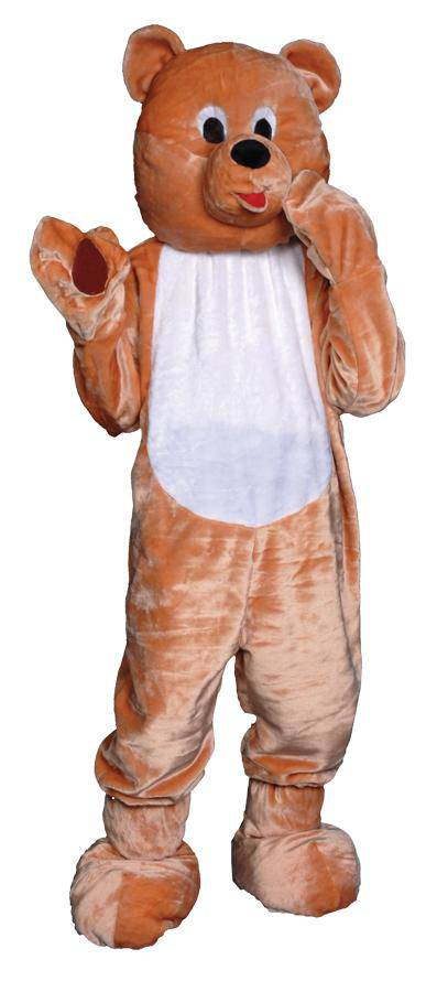 Dress Up America Teddy Bear Mascot Halloween Adult Costume - Costume Arena