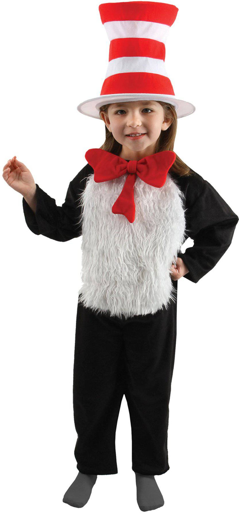 elope Girls' Cat in the Hat Dr Seuss Theme Costume - Costume Arena