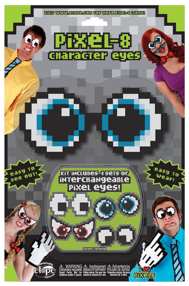 elope Pixel 8 Character Eye Set Funny Accessory - Costume Arena