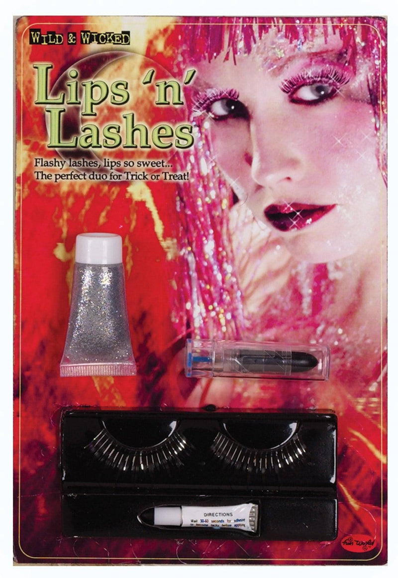 Fun World Lips & Lashes Vampiress Makeup Kit Accessory - Costume Arena