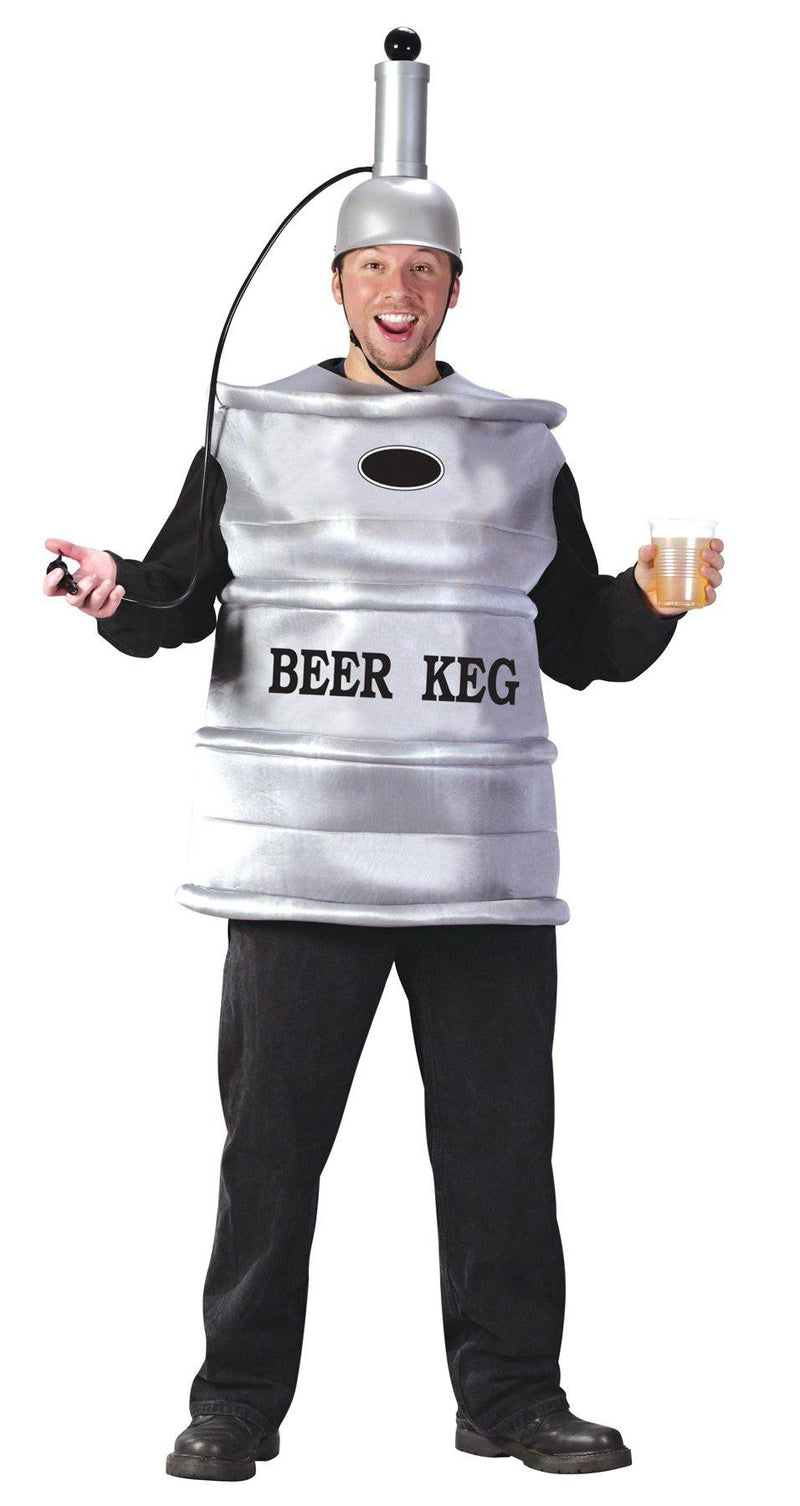 Fun World Men's Beer Keg Humorous Theme Adult Costume - Costume Arena