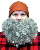 Fun World Men's Big Curly Beard Funny Theme Party Wig - Costume Arena