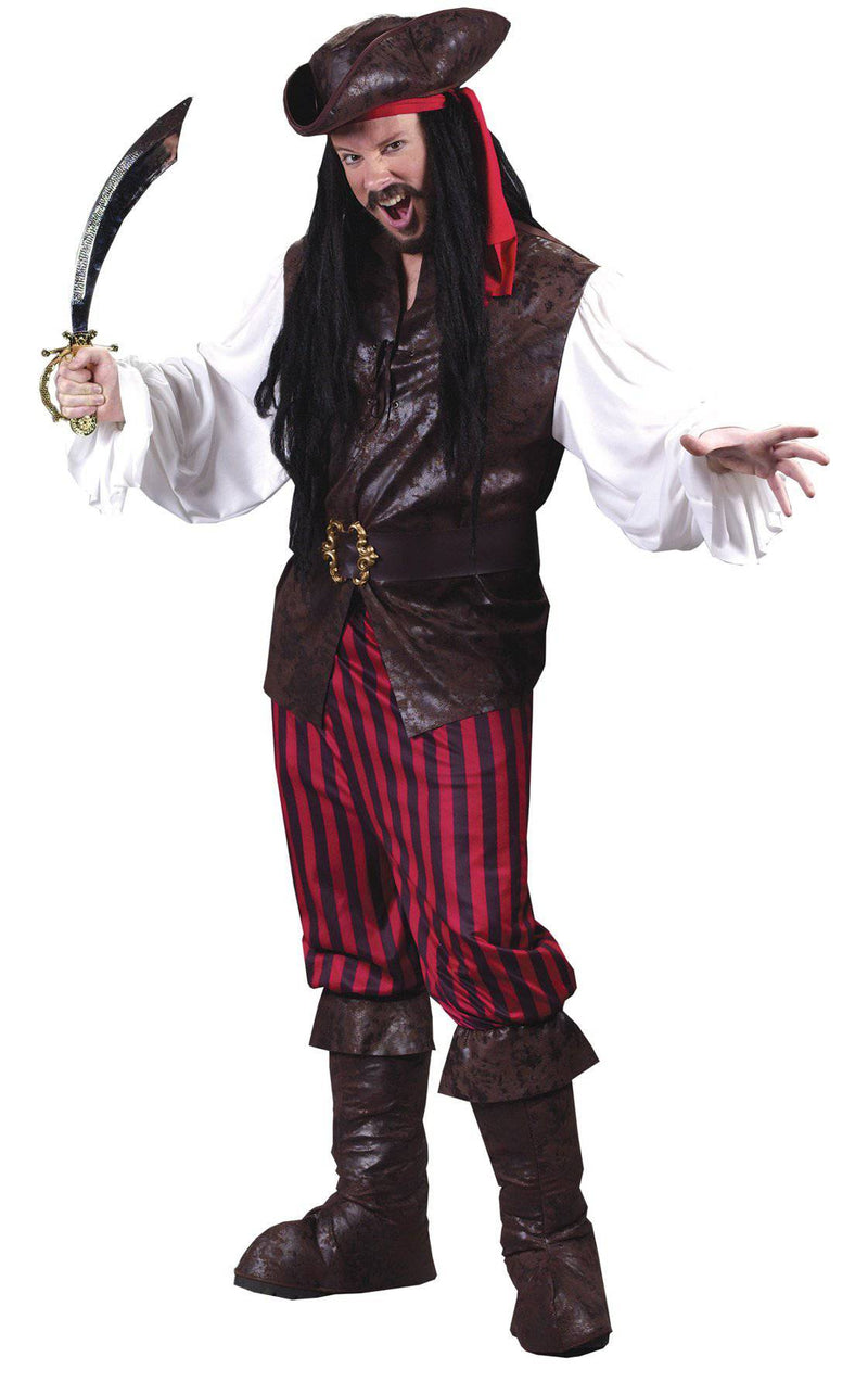 Fun World Men's High Seas Theme Buccaneer Costume - Costume Arena