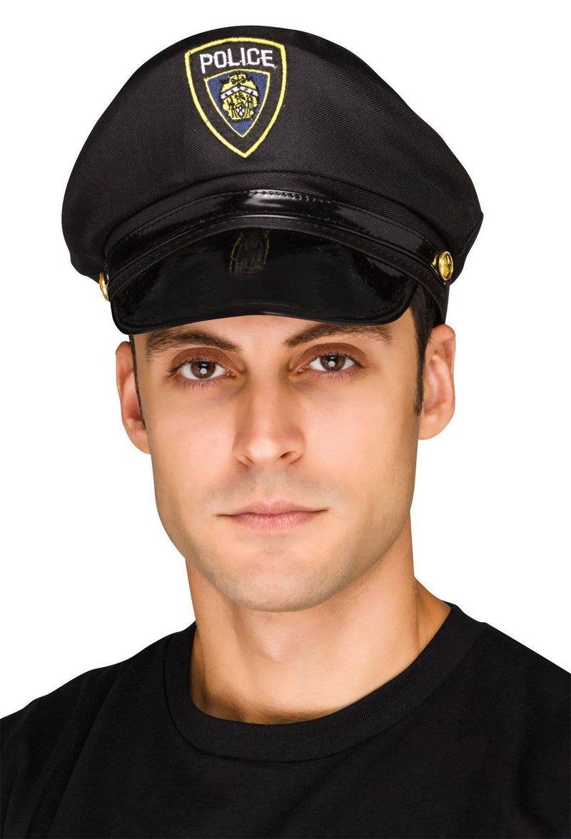 Fun World Men's Policeman Theme Halloween Adult Hat - Costume Arena