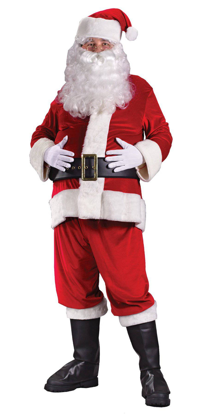 Fun World Men's Santa Suit Rich Velvet Theme Costume - Costume Arena