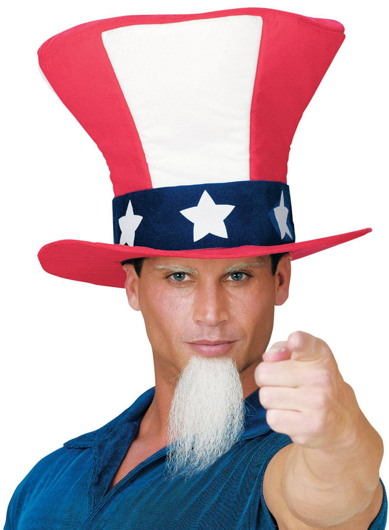 Fun World Men's Uncle Sam With Beard Traditional Hat - Costume Arena