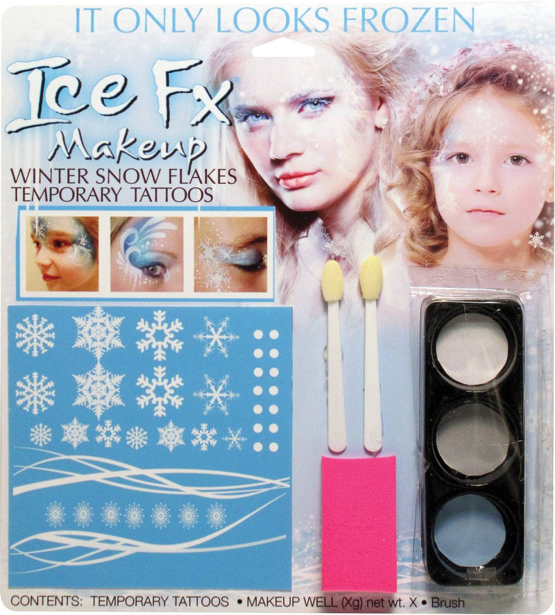 Fun World Winter Snow Flake Makeup Kit Party Accessory - Costume Arena