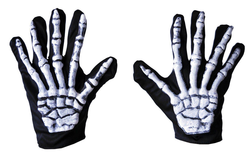 Fun World Wrist Length Nylon Gloves Skeleton Accessory - Costume Arena