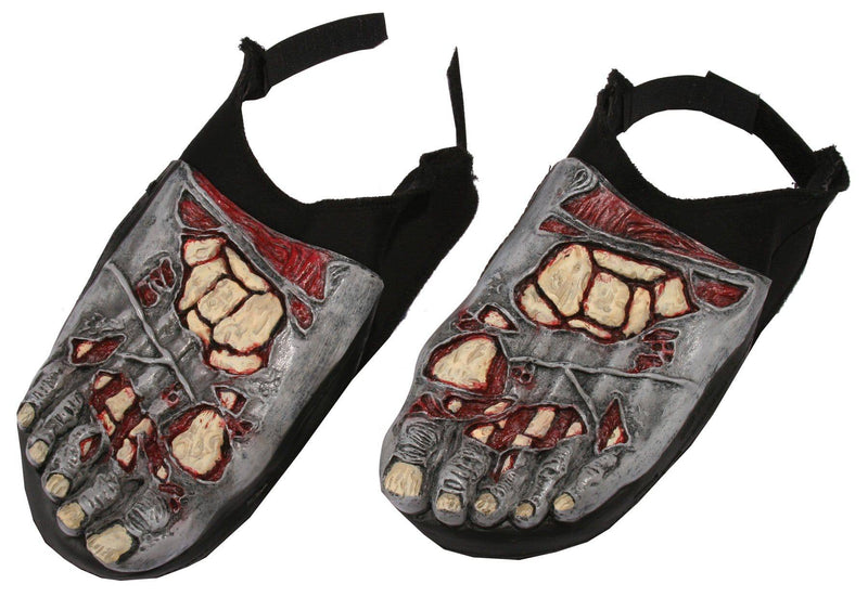 Fun World Zombie Foot Covers Scary Theme Accessory - Costume Arena
