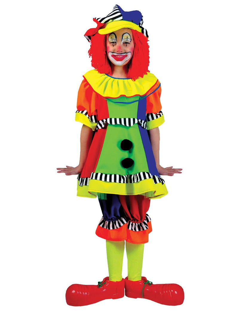 Funny Fashion Girls' Spanky Stripes Clown Funny Costume - Costume Arena