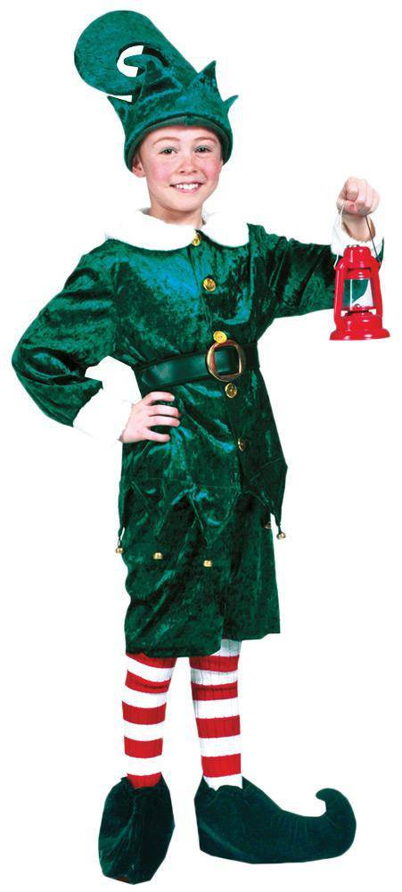 Funny Fashion Holly Jolly Elf Theme Child Santa Costume - Costume Arena