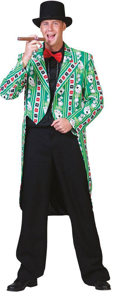 Funny Fashion Men's Hit Me Poker Jacket Ad Large Costume - Costume Arena