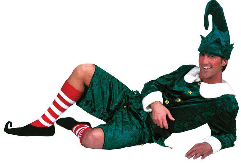 Funny Fashion Men's Holly Jolly Elf Christmas Costume - Costume Arena