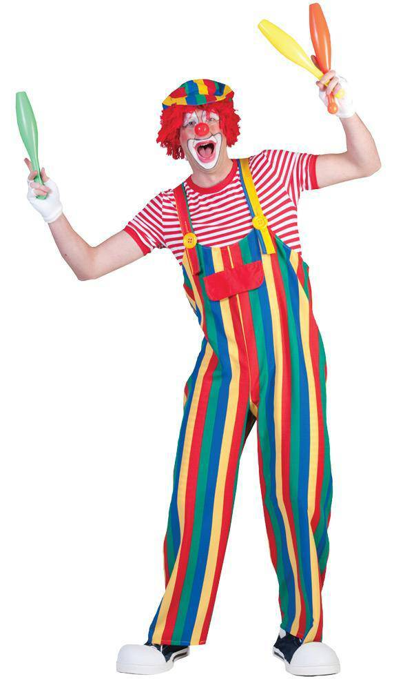 Funny Fashion Men's Oversized Striped Clown Funny Costume - Costume Arena