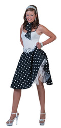 Funny Fashion Women's Sock Hop Skirt Party Adult Costume - Costume Arena
