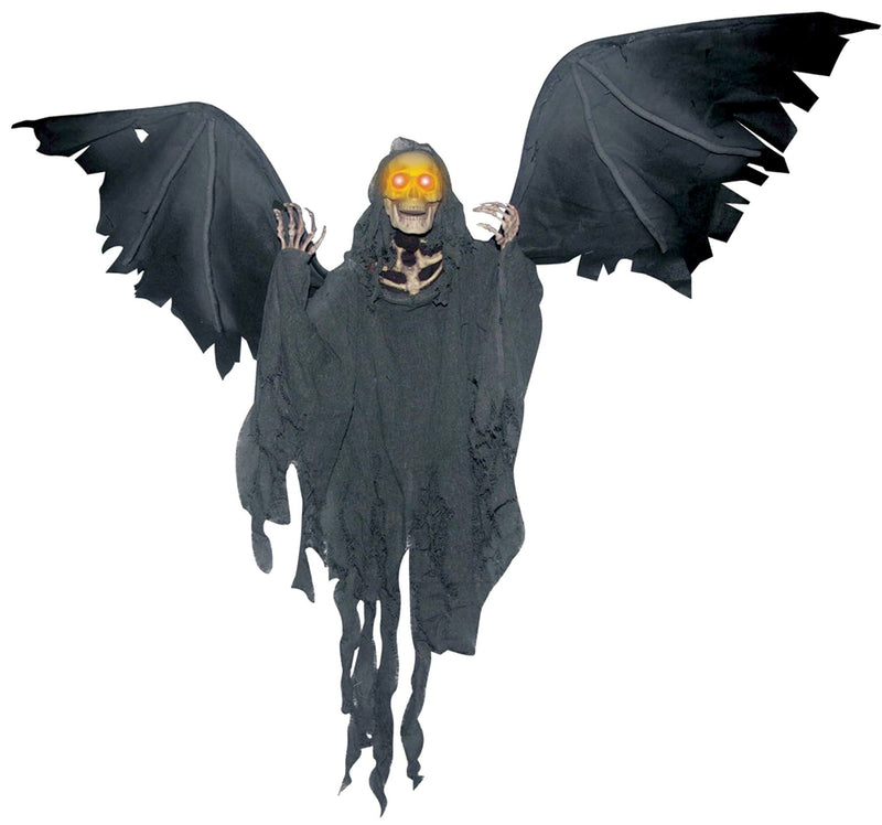 "Gemmy (Sun Star) 36"" Animated Flying Reaper Horror Decoration - Costume Arena"