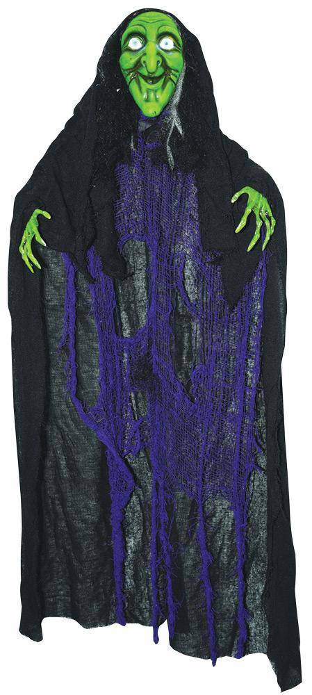 "Gemmy (Sun Star) 48"" Talking Witch Horror Theme Decoration - Costume Arena"