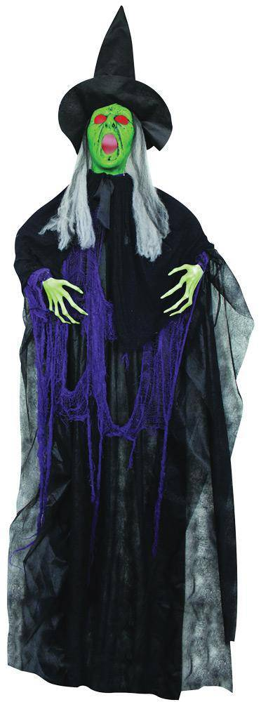"Gemmy (Sun Star) 72"" Hanging Sonic Witch Halloween Decoration - Costume Arena"
