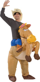Gemmy (Sun Star) Adult Riding On Horse Inflatable Costume - Costume Arena