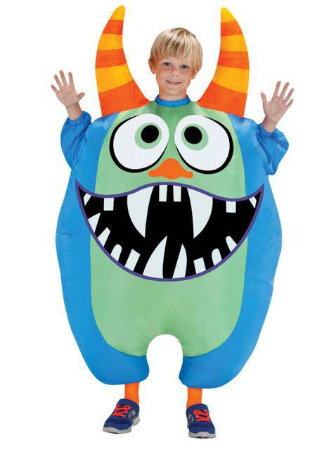 Gemmy (Sun Star) Boys' Inflatable Monster Funny Movie Costume - Costume Arena