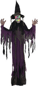 Gemmy (Sun Star) Creepy Hanging Witch Horror Theme Decoration - Costume Arena