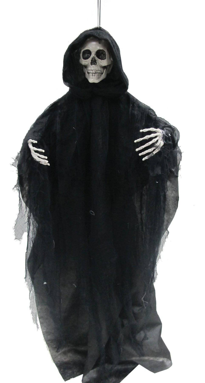 Gemmy (Sun Star) Hanging Talking Reaper Horror Decoration - Costume Arena