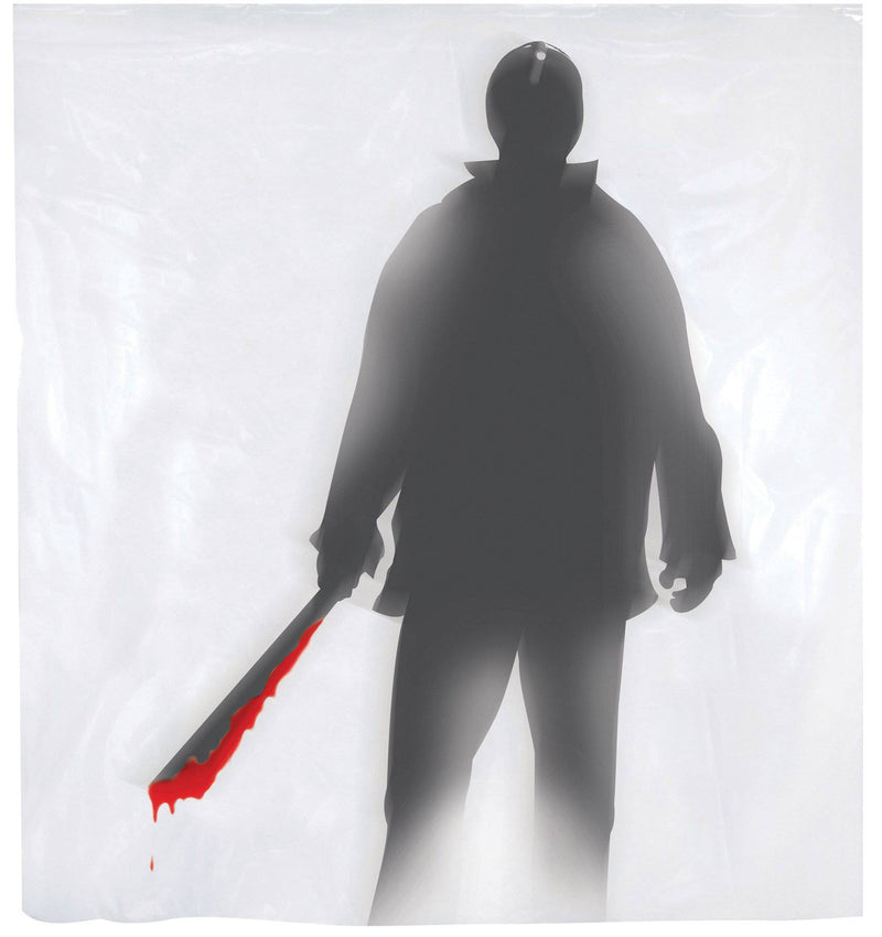 Gemmy (Sun Star) Machete Killer Shower Curtain Decorations - Costume Arena