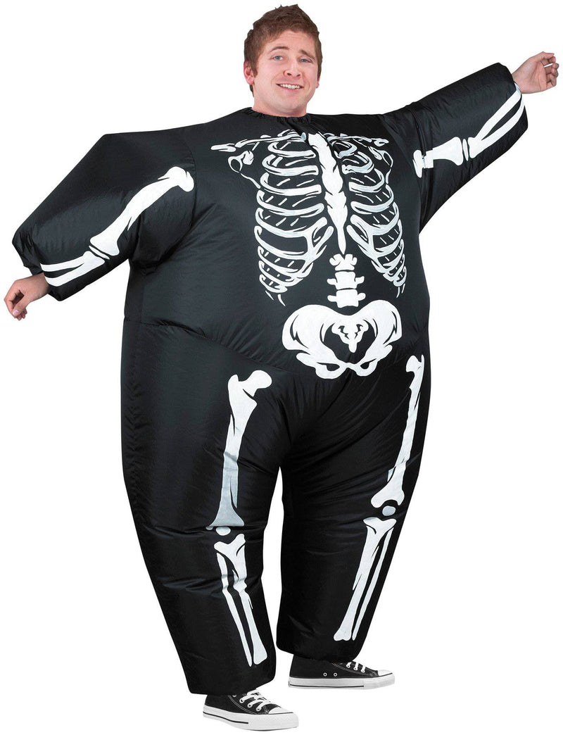 Gemmy (Sun Star) Men's Inflatable Skeleton Theme Costume - Costume Arena