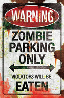 Gemmy (Sun Star) Metal Zombie Parking Sign Theme Decorations - Costume Arena
