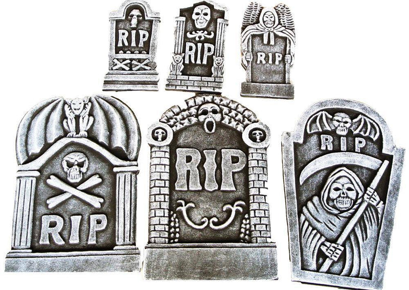 Gemmy (Sun Star) RIP Tombstone Kit Horror Theme Decoration - Costume Arena