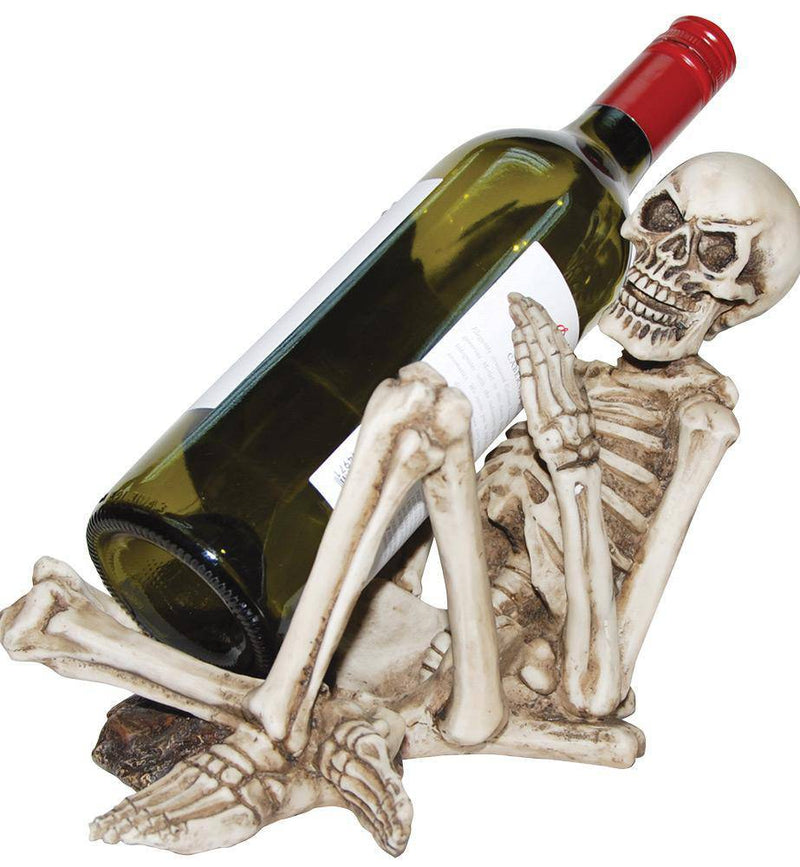 Gemmy (Sun Star) Skeleton Bottle Holder Halloween Decorations - Costume Arena