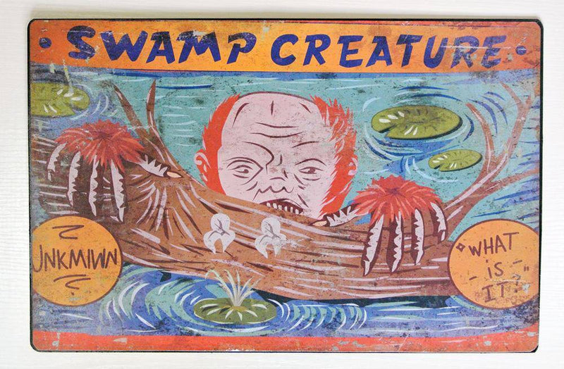 Gemmy (Sun Star) Swamp Creature Carnival Sign Decoration - Costume Arena