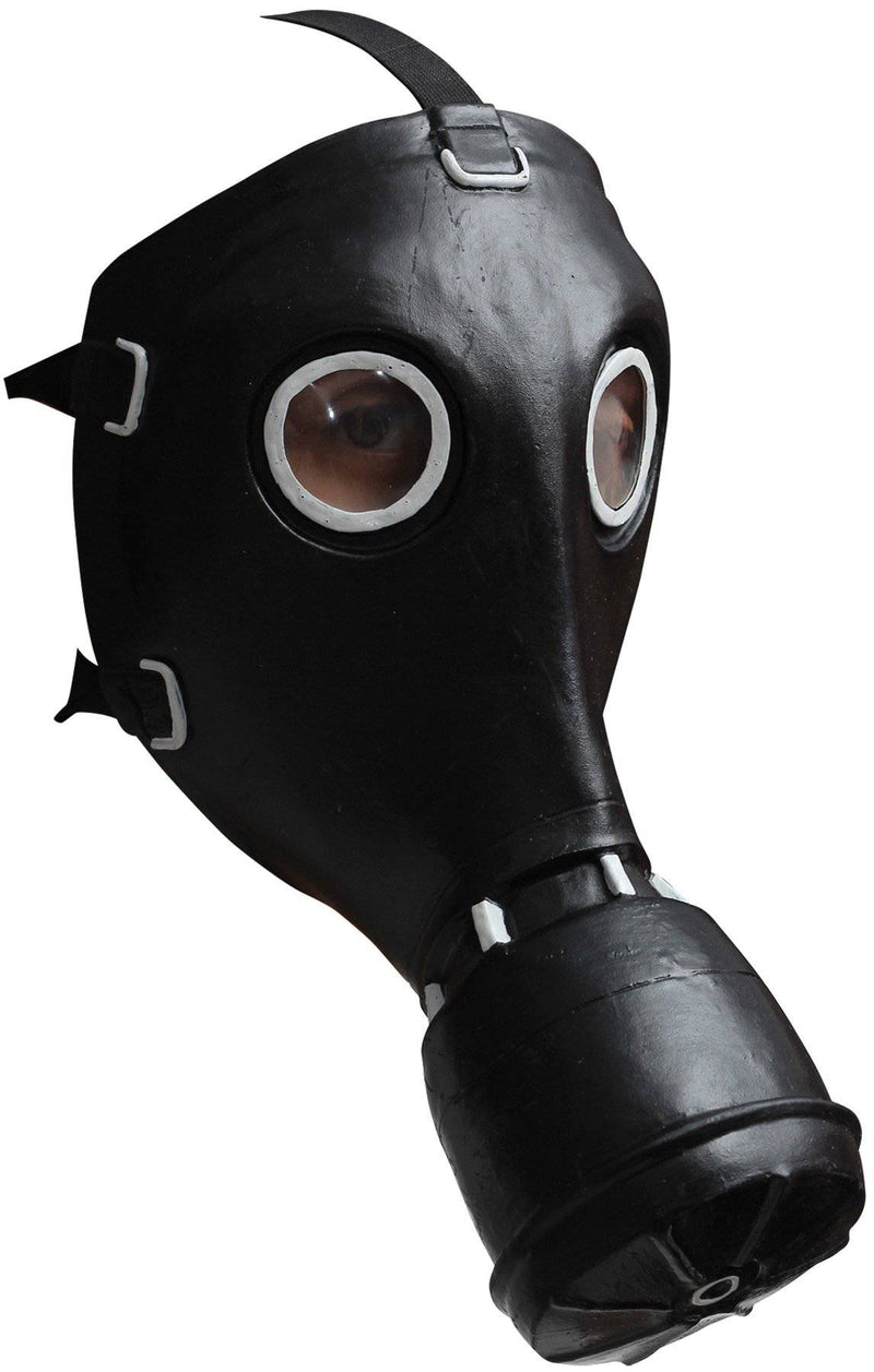 Ghoulish Productions Black GP-5 Gas Party Halloween Latex Mask - Costume Arena