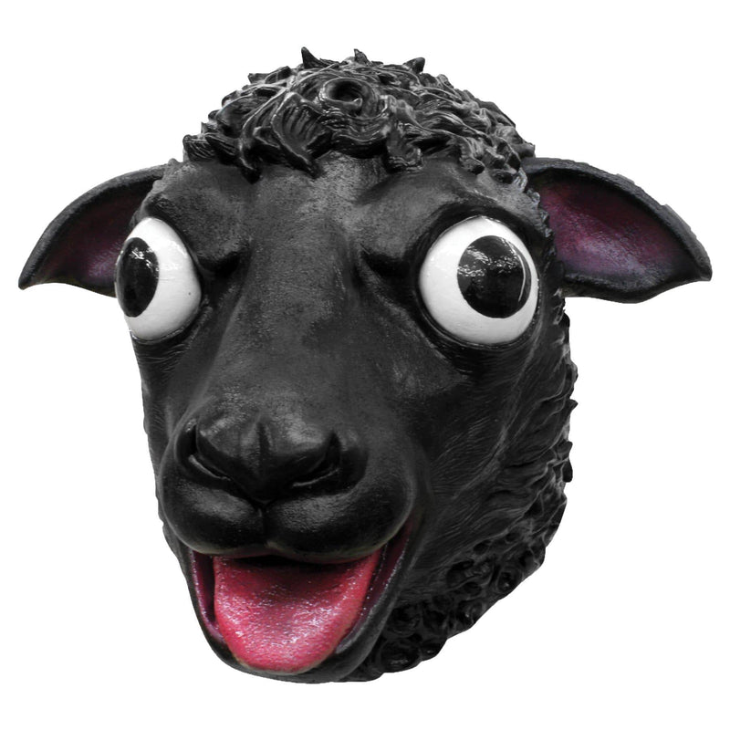 Ghoulish Productions Black Sheep Halloween Humorous Latex Mask - Costume Arena