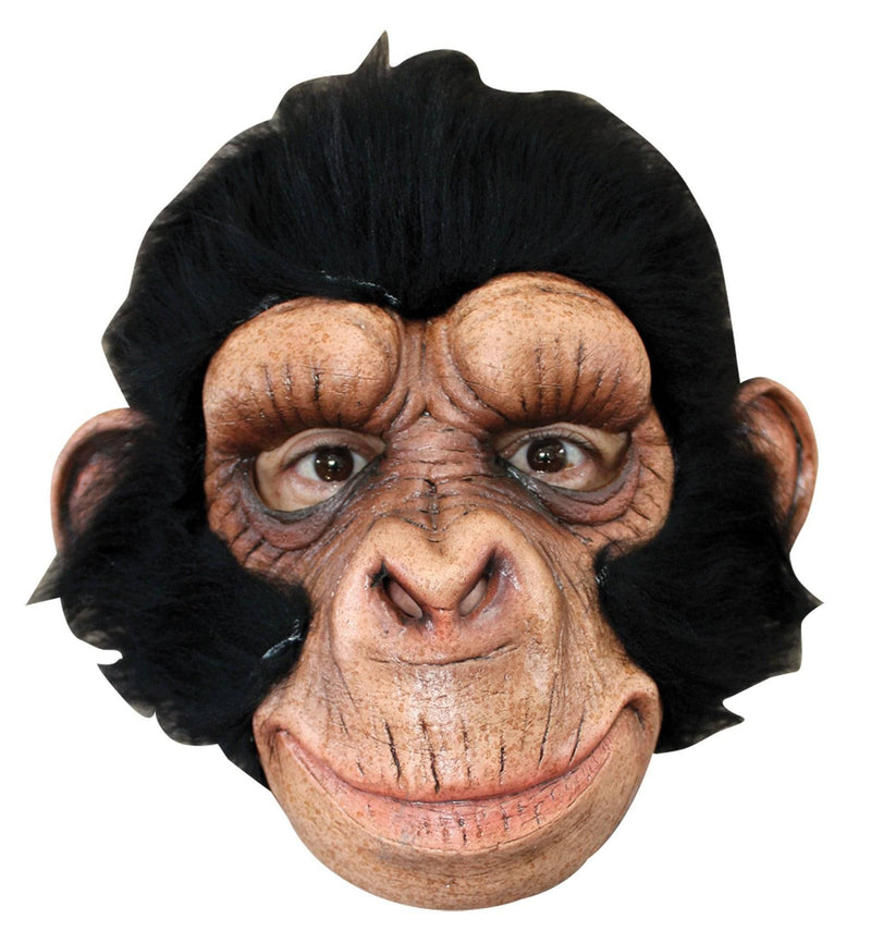 Ghoulish Productions Chimp George Funny Theme Humorous Latex Mask - Costume Arena