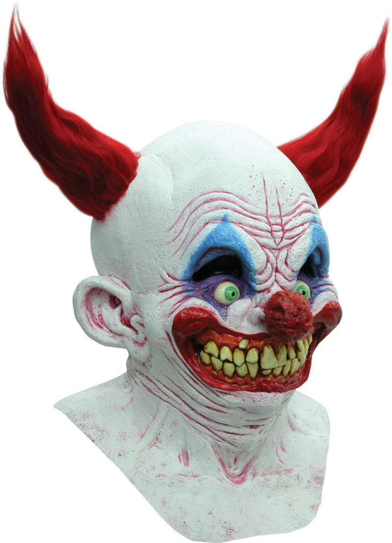 Ghoulish Productions Chingo The Clown Horror Theme Latex Mask - Costume Arena