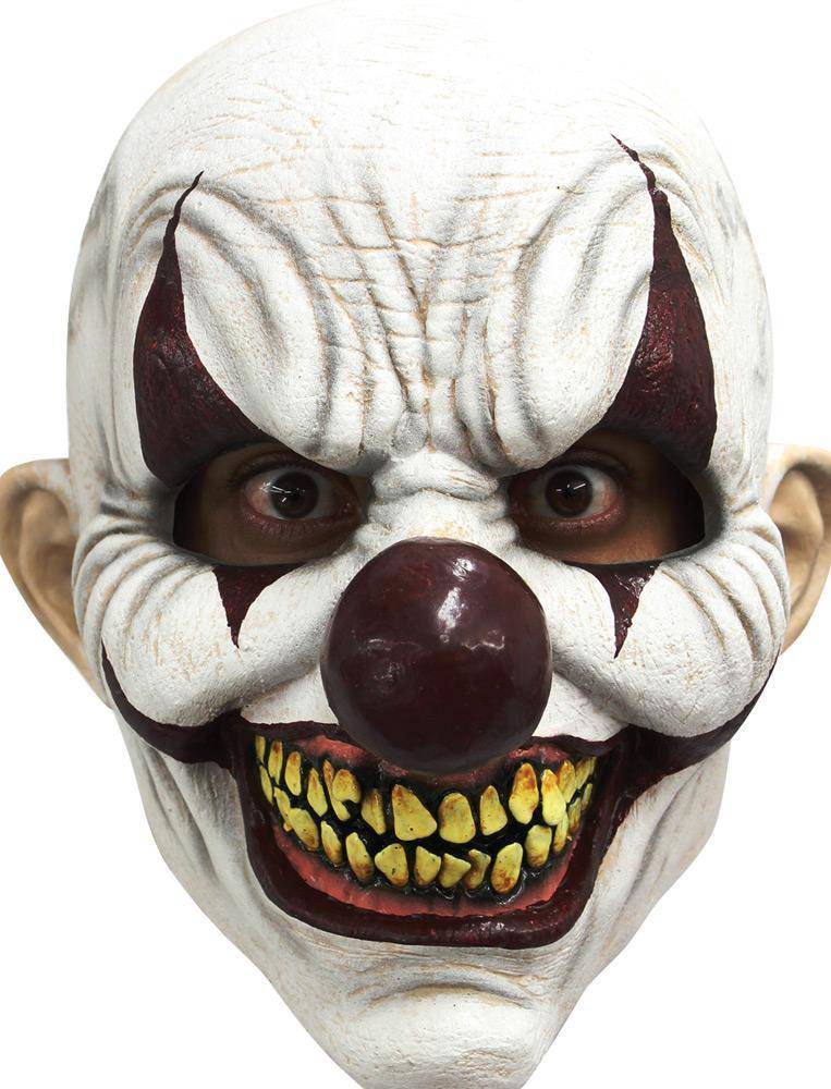 Ghoulish Productions Chomp Clown Horror Movie Halloween Mask - Costume Arena