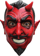 Ghoulish Productions Classic Devil Horror Theme Halloween Mask - Costume Arena