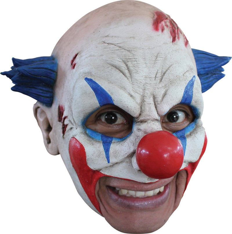 Ghoulish Productions Clown With Blue Hair Movie Theme Latex Mask - Costume Arena